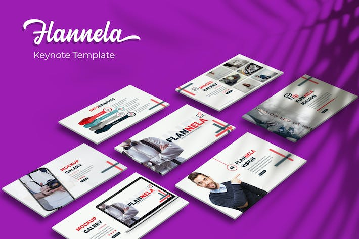 Thumbnail for Flannela - Keynote Template