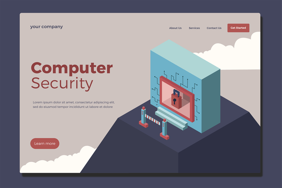 Computer Security - Landing Page