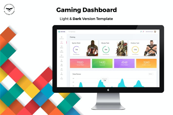 Cover Image For Gaming Admin Dashboard UI Kit
