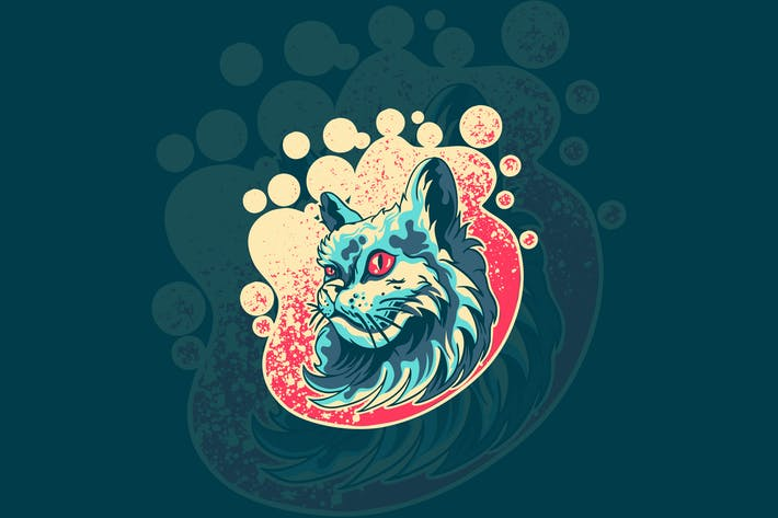 cat animal illustration