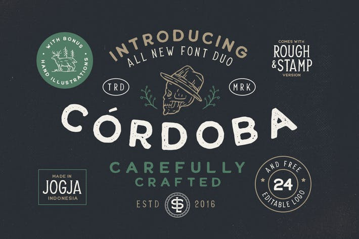 Thumbnail for Cordoba - Font Duo (+EXTRA)