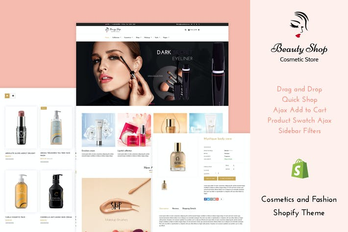 Thumbnail for Beauty Store - Cosmetics , Fashion Shopify Theme