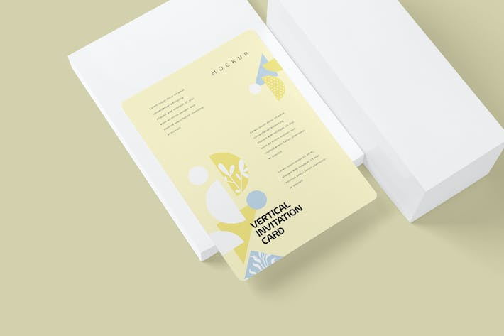 Thumbnail for Beautiful 5x7 Vertical Invitation Card Mockups