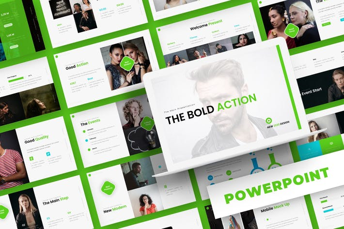 Thumbnail for Bold Action - Powerpoint Template