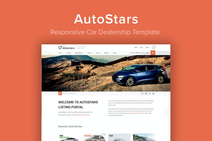 Cover Image For AutoStars - Responsive Car Dealership Template
