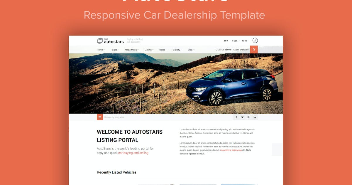 Download AutoStars - Responsive Car Dealership Template by imithemes