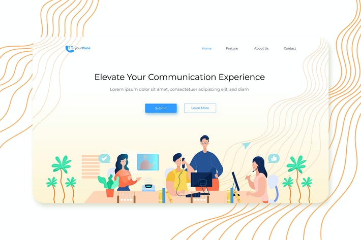 Thumbnail for Held Header Illustration Landing Pages