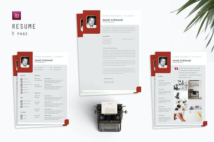 Editor Magazine Resume Designer