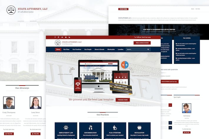 Thumbnail for Attorney & Law | Lawyers HTML5 Responsive Template