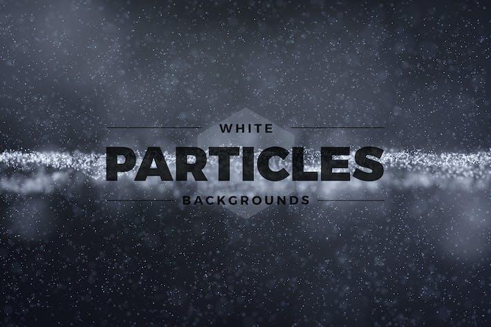 Abstrakte weiße Partikel Hintergründe
