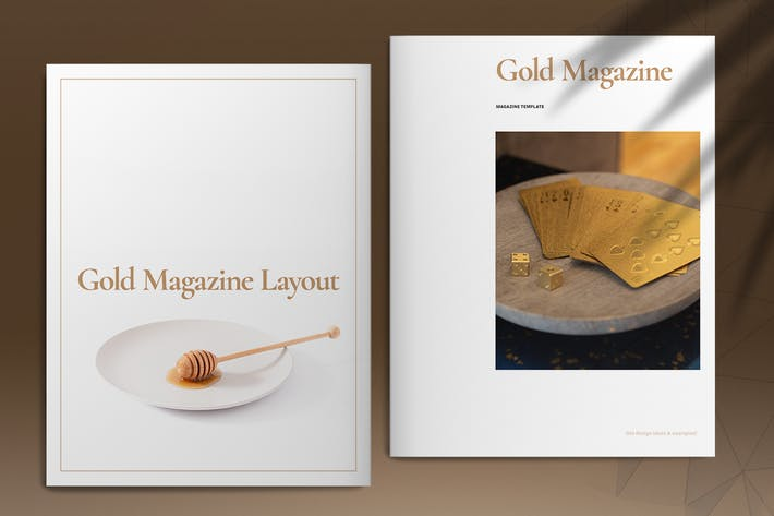 Thumbnail for Gold Magazine Template