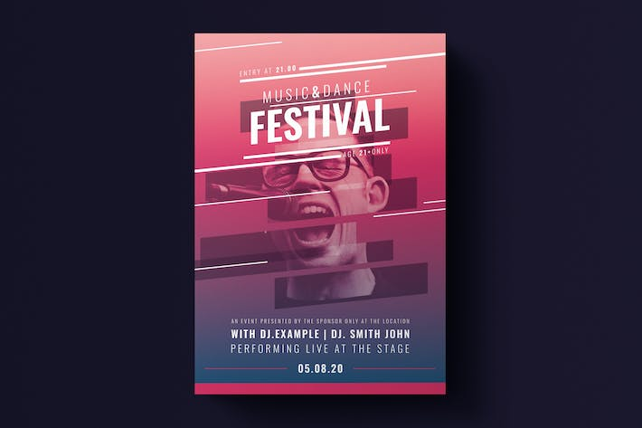 Thumbnail for Music Festival Flyer Template