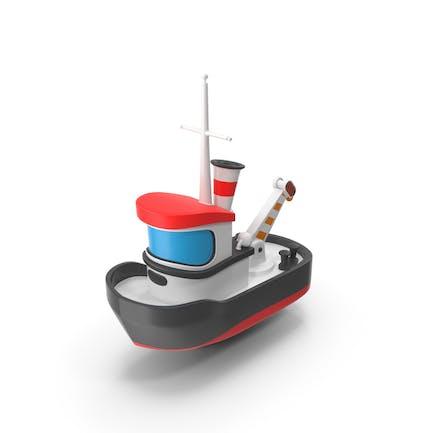 Cartoon Spielzeug Tugboat