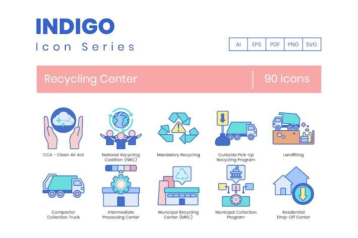 Thumbnail for 90 Recycling Center Icons - Indigo Series
