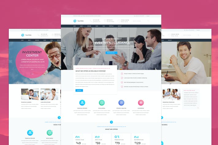 Thumbnail for Gumble - Finance PSD template