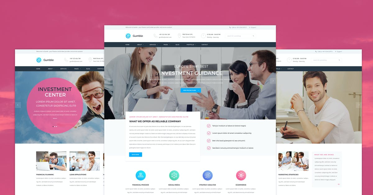 Download Gumble - Finance PSD template by KL-Webmedia