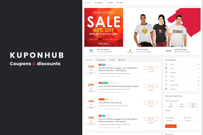 Thumbnail for Kuponhub | Affiliate Coupons and Discounts