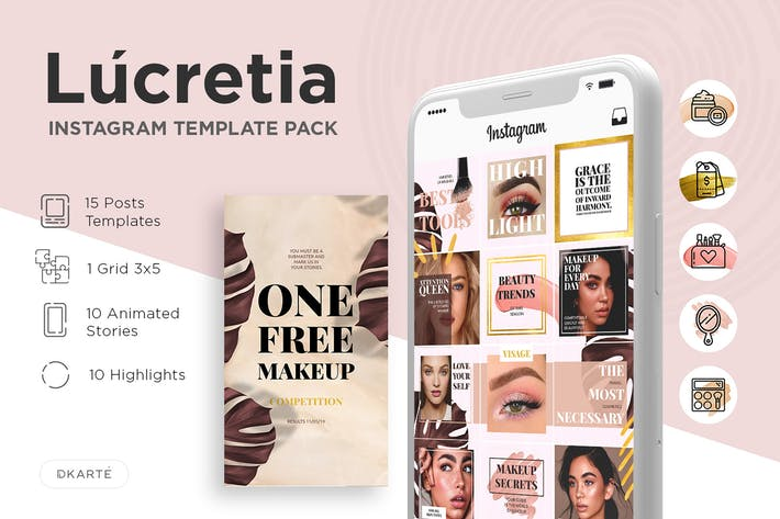 Cover Image For Instagram Template Pack - Lucretia