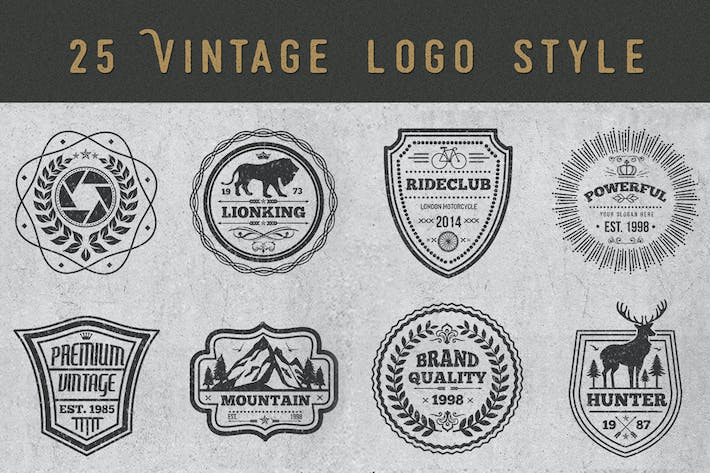 Thumbnail for Logos and Badges Vintage Style