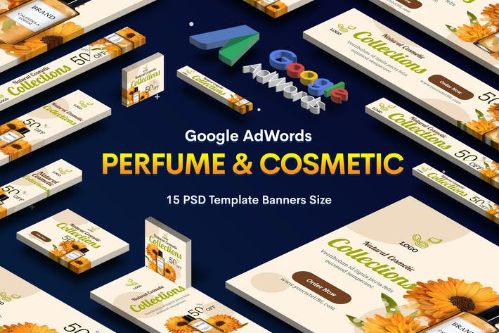 Thumbnail for Perfume & Cosmetic Banners Ad