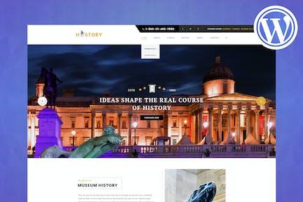 Historia - Museo y Exposición WordPress Tema