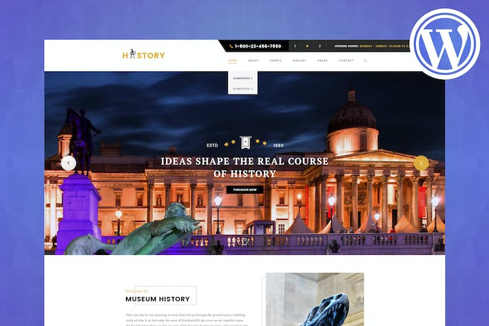 Thumbnail for History - Museum & Exhibition WordPress Theme