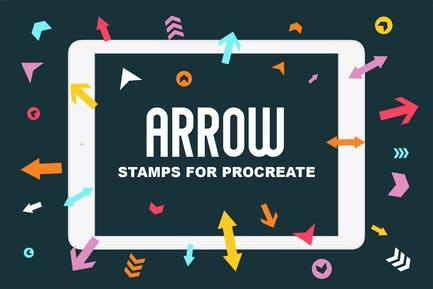Procreate Stamp Brushes - Arrows