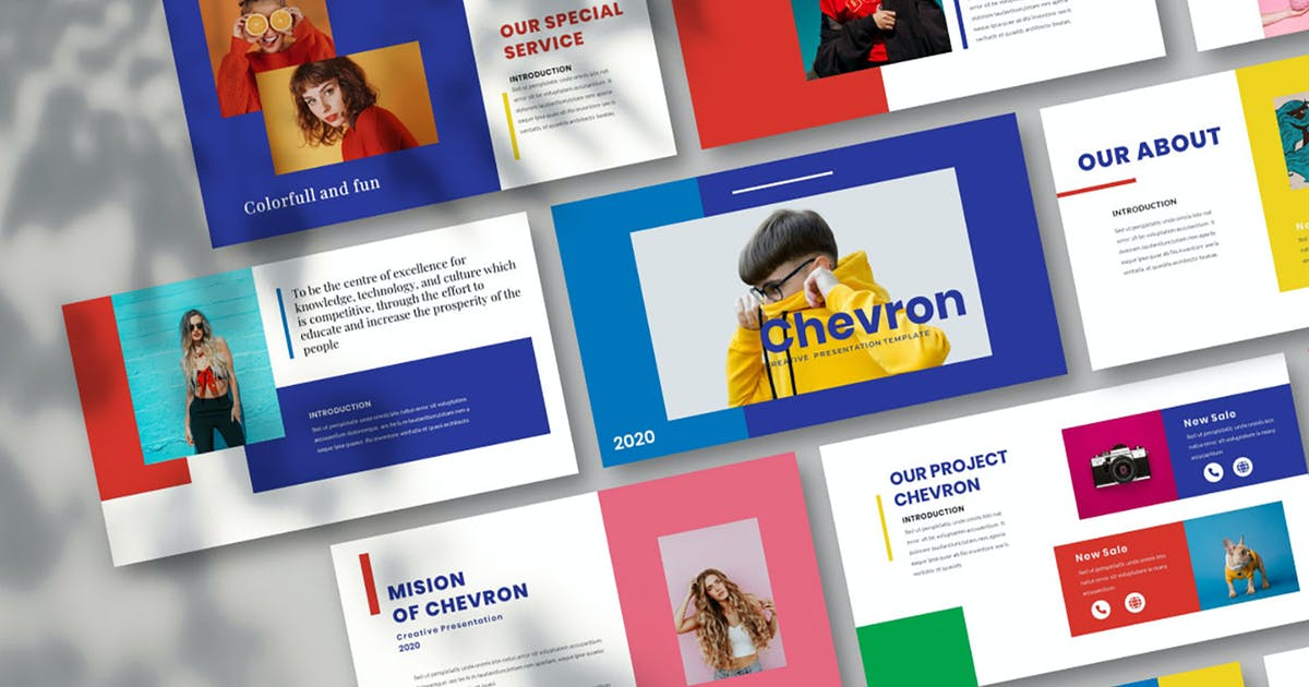 Download Chevron Keynote Template by Nyiltemp