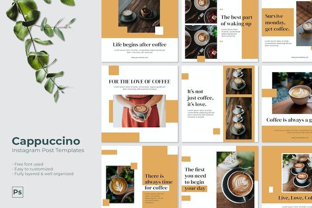 Cappuccino - Instagram Post Template