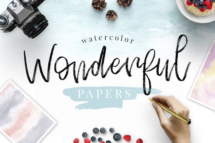 Thumbnail for Watercolor Wonderful Papers
