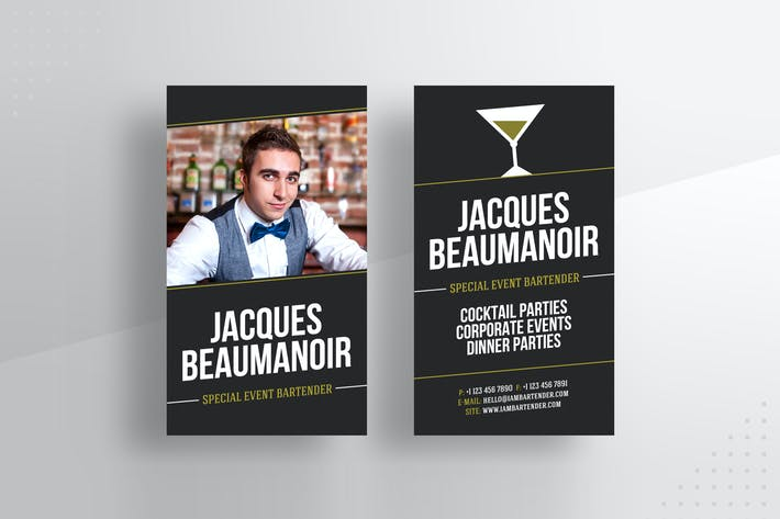 Thumbnail for Bartender / Catering Business Card