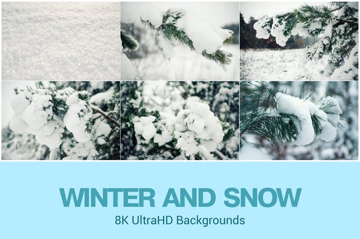 Thumbnail for 8K UltraHD Winter Theme Backgrounds Set