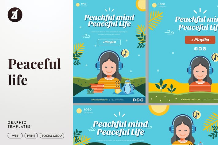Thumbnail for Peaceful Life Graphic Templates