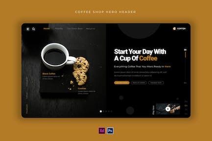 Coffee Shop   Hero Header