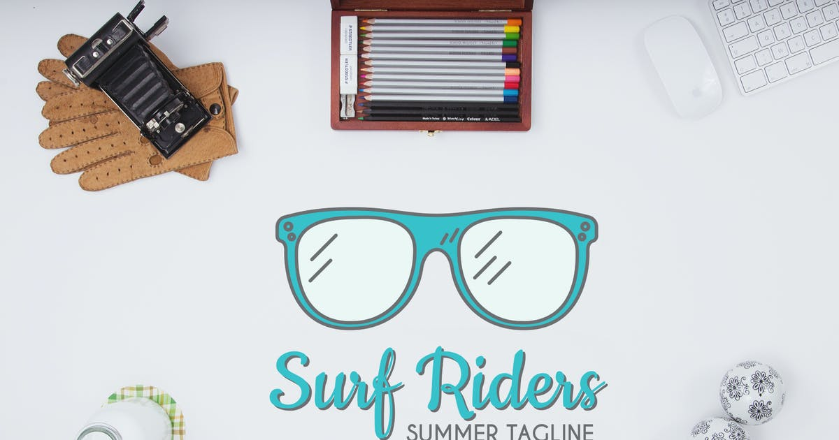Surf Riders Logo Template by JeksonJS