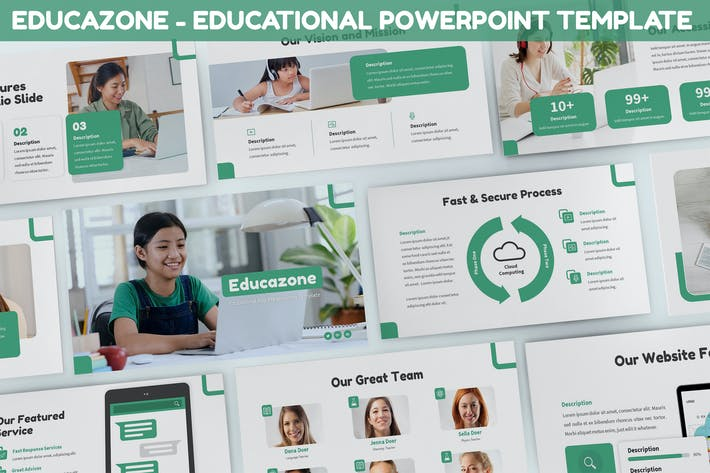Thumbnail for Educazone - Educational Powerpoint Template
