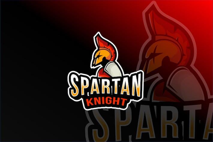 Thumbnail for Spartan Knight Esport Logo Template
