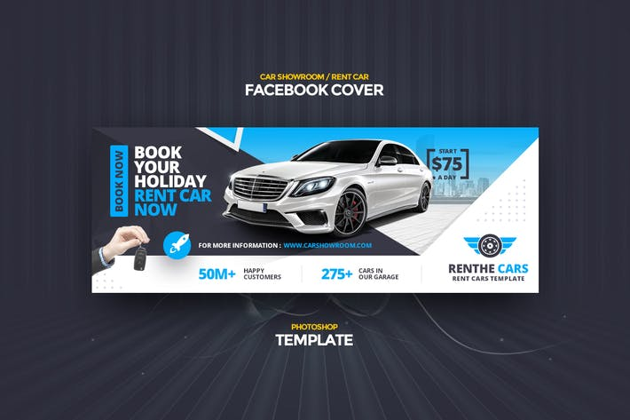 Thumbnail for Renthe Car Facebook Cover Photoshop Template
