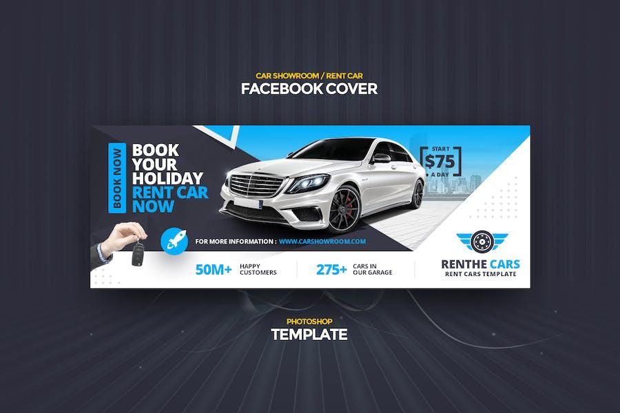 Renthe Car Facebook Cover Photoshop Template