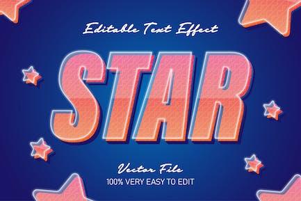 star pop art modern text style effect