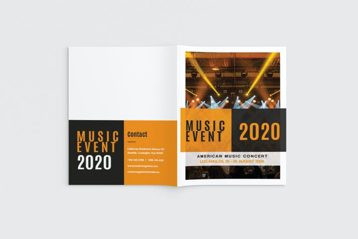 Thumbnail for Musika - A4 Music Brochure Template