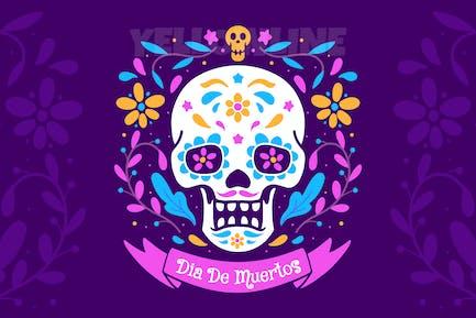 Dia De Muertos Poster Illustration