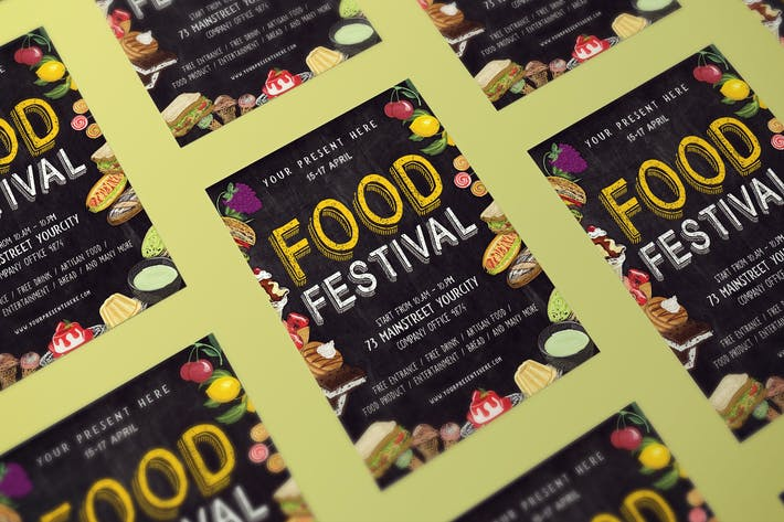 Kreide Food Festival Flyer
