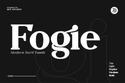 Fogie - Modern Con serifa Family 10 Fuentes