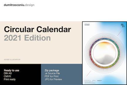 Circular Calendar 2021 Edition
