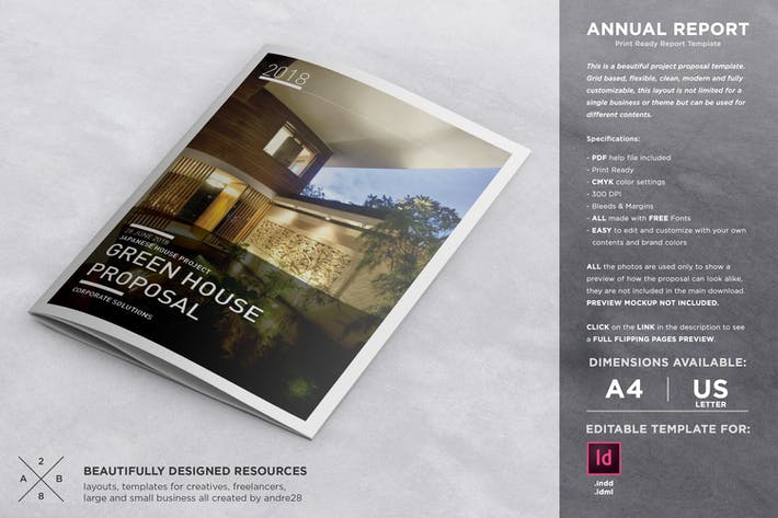 Thumbnail for Annual Report Proposal Template