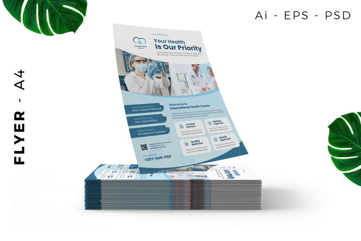 Thumbnail for Hospital / Clinic Flyer template promotion