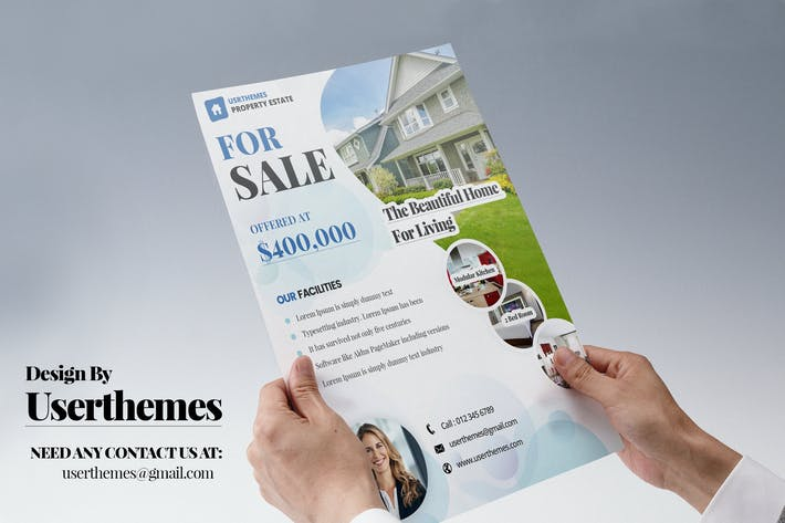 Thumbnail for Modern Real Estate Flyer Design Templates