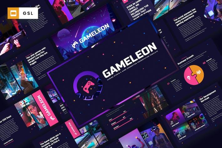 Cover Image For Gameleon - Gaming Studio Google Slides Template