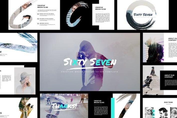 Thumbnail for Sixty Seven Creative Brush Google Slides Template